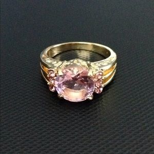 Jewelry - Pink sapphire ring 10 karat gold filled ring